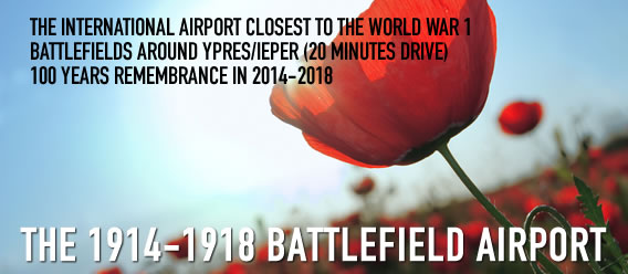 Kortrijk Airport is the closest airport to Ypres.